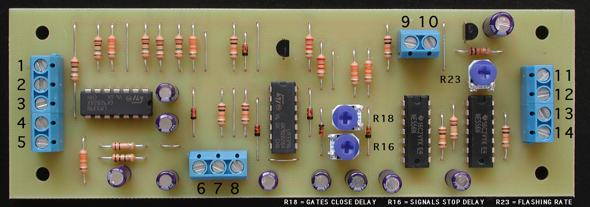 Grade Crossing Circuit Gates And Assembled Boards Kits Are Available For This