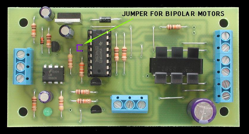 Bipolar Stepper Motor Driver 74194 on